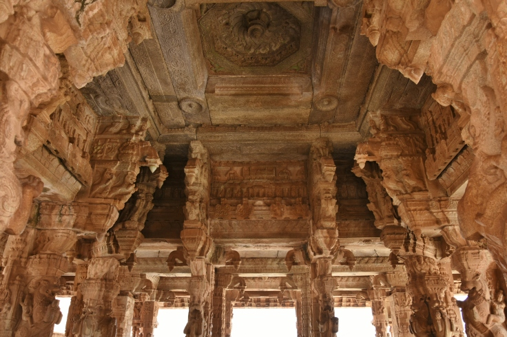 Pillar and Ceiling works of Utsava Mandapa of Vitthala
