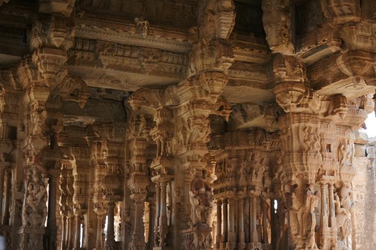 Inner architecture of Maha Mandapa of Vithaleswara