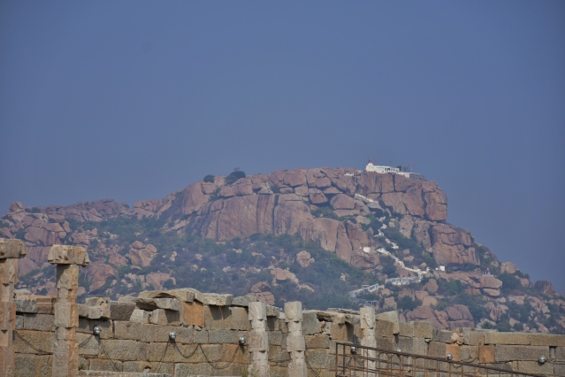 View of Anjanadri Hill From Vitthala temple