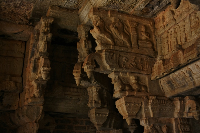 Cornice Works inside Old Siva temple