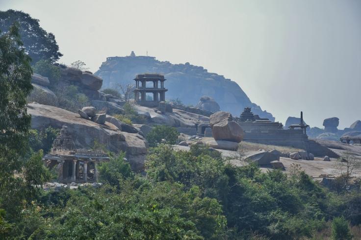 View of double storeyed pavillion,Narasimha Temple and Mathanga Hill