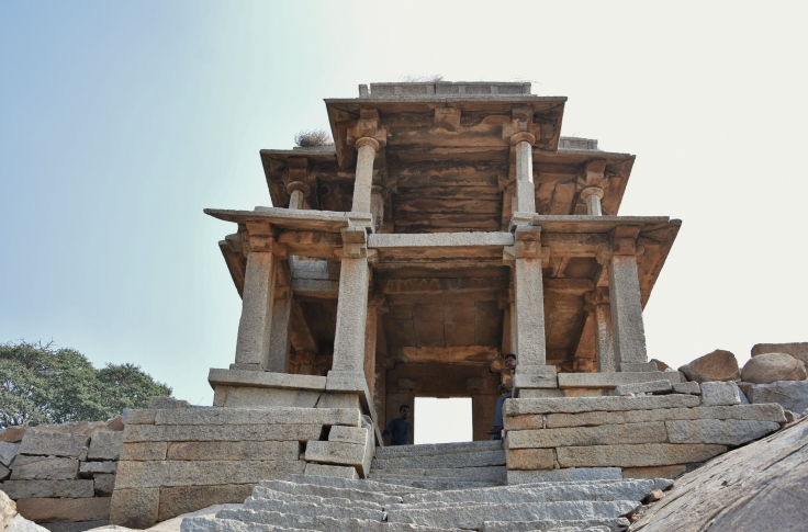 Double storeyed pavillion on the top of Narasimha temple