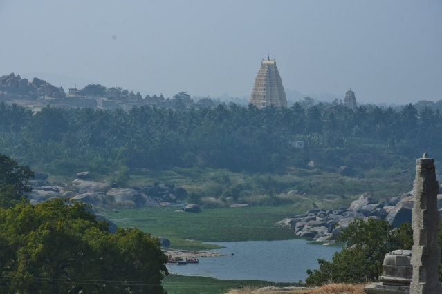 View of Virupaksha Temple from the top of Narasimha temple