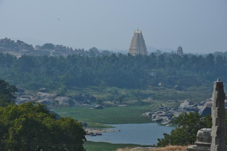 View of Virupaksha Temple from the top of Narasimha temple