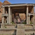 Monolithic Couchant Bull inside a Double storeyed house – Eduru Basavanna