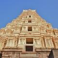 160ft high Eastern Gopura of Virupaksha Temple – view from inside