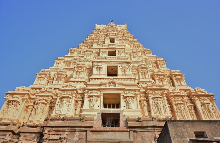 160ft high Eastern Gopura of Virupaksha Temple - view from inside