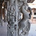 Horse or Yali pillars made out of black stone – Ranga Mandapa