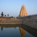 Reflection of Lofty Eastern Gopura of Virupaksha on the Pushkarani