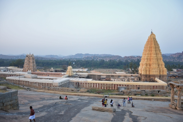 View of Outer and Inner east gopuras and North gopura of Virupaksha Complex