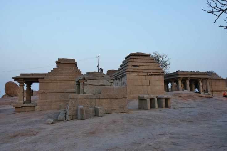 Mula Virupaksha Temple on top of Hemakuta hill - Lord Shiva is meditated here