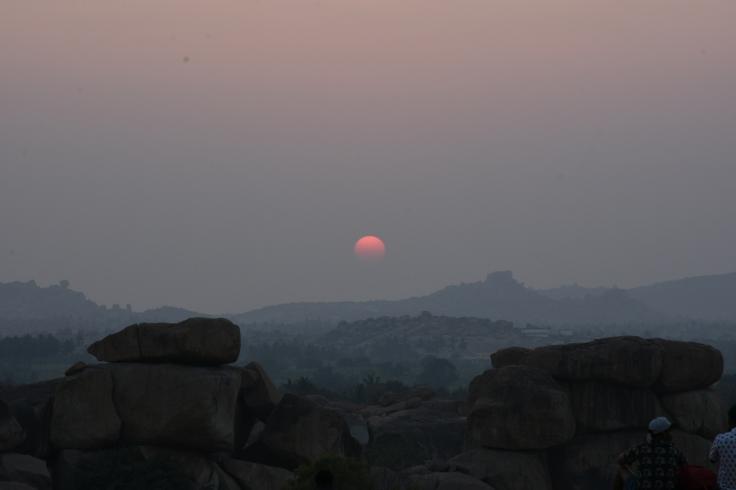 Beautiful Sunset from Hemakuta Hill