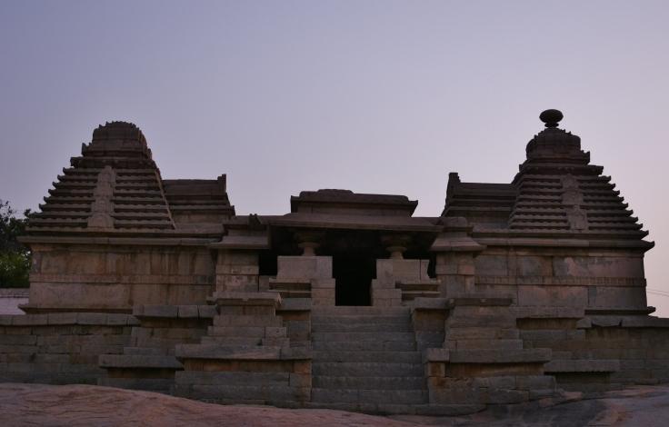 Trikuta Temple on the Hemakuta hill slope - Front view - Kadamba Nagara Sikhara