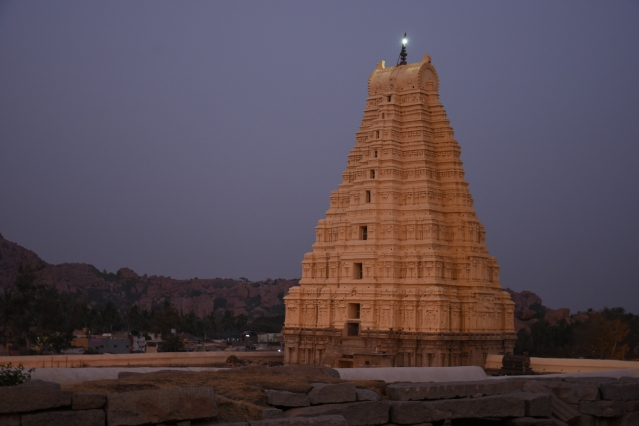 Sunset view of Eastern Gopura of Virupaksha (160ft)