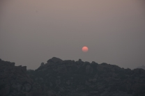 Sunrise From Malyavantha Parvatha.