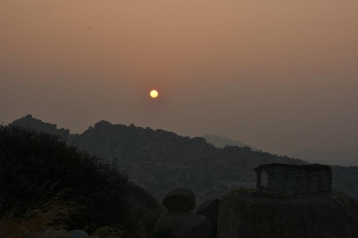 Sunrise From Malyavantha Parvatha.