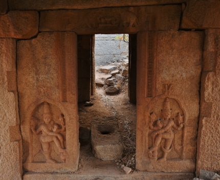 Entrance of a small sanctum at the top of Malyavantha Hill.At present,its used as away to the highest point of Malyavantha Parvata.