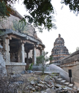 A view of Eastern entrance on Hillock and opposite cave or sanctum.