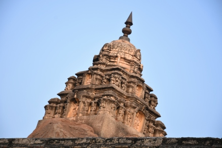 Vimana structure and Sukanasa of the Garbhagriha in Raghunathaswamy temple.