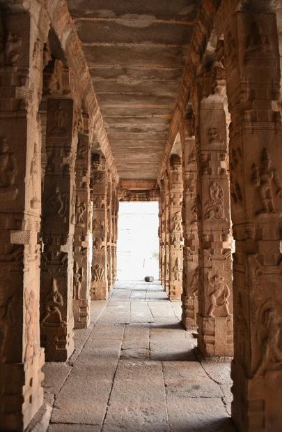 Pillar works of Mahamandapa - Raghunathaswamy temple.