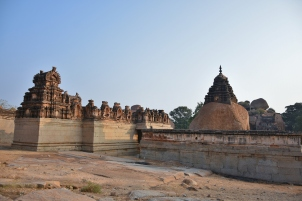Back view of Raghunathaswamy temple and Devi shrine on north west side.