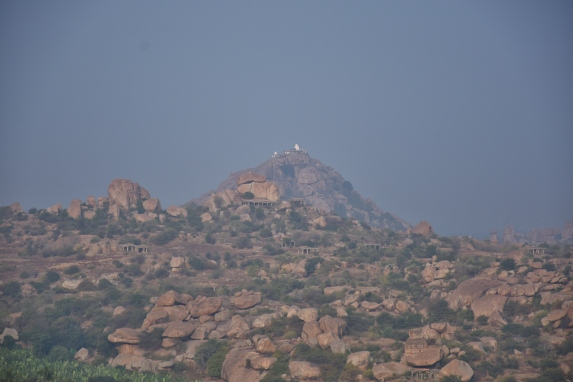 Views around Malyavantha Hill. long view of Mathanga Parvata in middle.