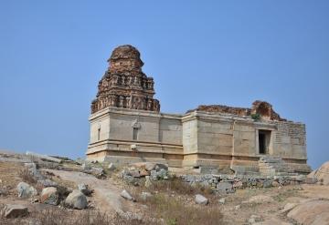 North facing Saraswathi Temple on the northeast side of Chandrasekhara temple.