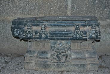 Saraswathi peedom (Idol base) Saraswathi Temple - Inside sanctum.
