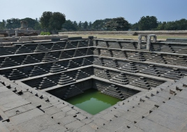 Stepped Tank in the Royal enclosure - used for festive purposes of Royal household.7 mts deep and having 5tiers and each tier comprises of small pyramid shaped steps.