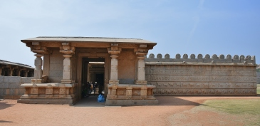 Eastern Entrance of Hazaara Rama Temple - Hazaara means courtyard or 1000,since the location of temple happens to be a part of palace complex/courtyard and numerous Ramayana narrative panels found on the bhitti/wall of the temple.