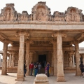 Gudha mandapa/pillared porch of east facing Hazaara Rama temple.