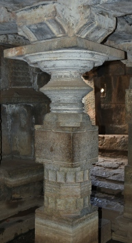 Pillars of Antarala of Underground Siva Temple