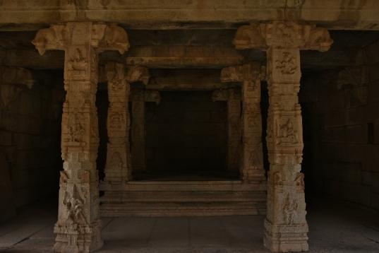 Inner View of Kalyana Mandapa - southwest corner of Underground Siva Temple