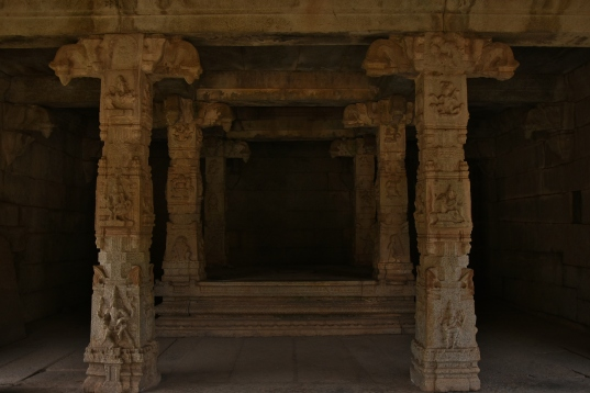 Inner View of Kalyana Mandapa - southwest corner of Underground Siva Temple