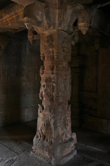 One of pillars of Antarala - Krishna Temple complex