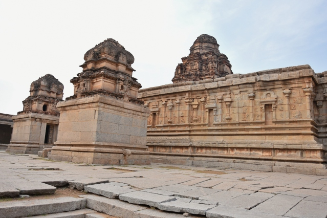 View from the Southern side of Krishna Temple complex