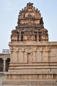 Sala Sikhara superstructure of devi shrine on the Northwest corner of Krishna temple complex