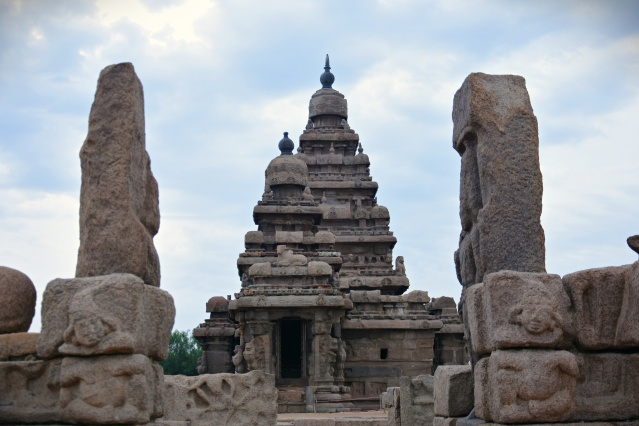 DSC_9077 - west entrance of shore temple - Rajasimha Pallavesvara temple - smaller Shiva shrine.