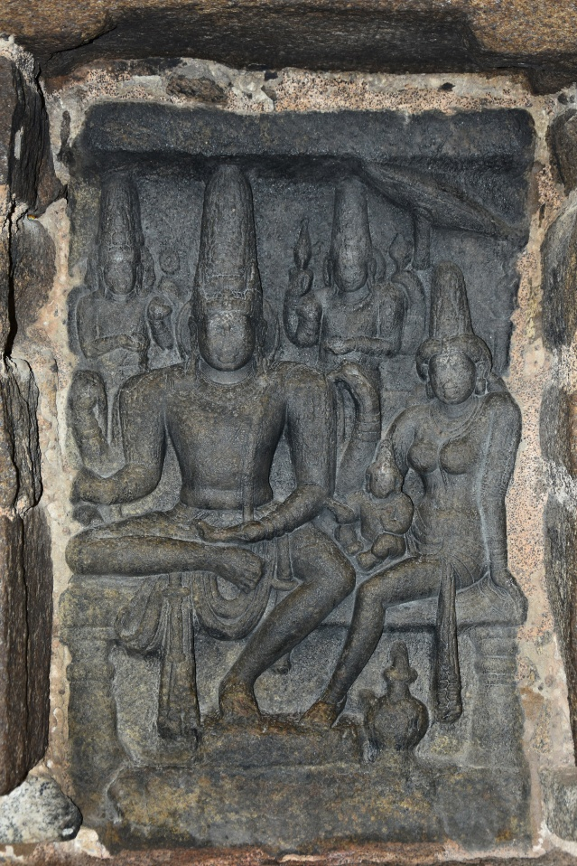 DSC_9086 - Famous Somaskanda panel inside Rajasimha Pallavesvara griham.
