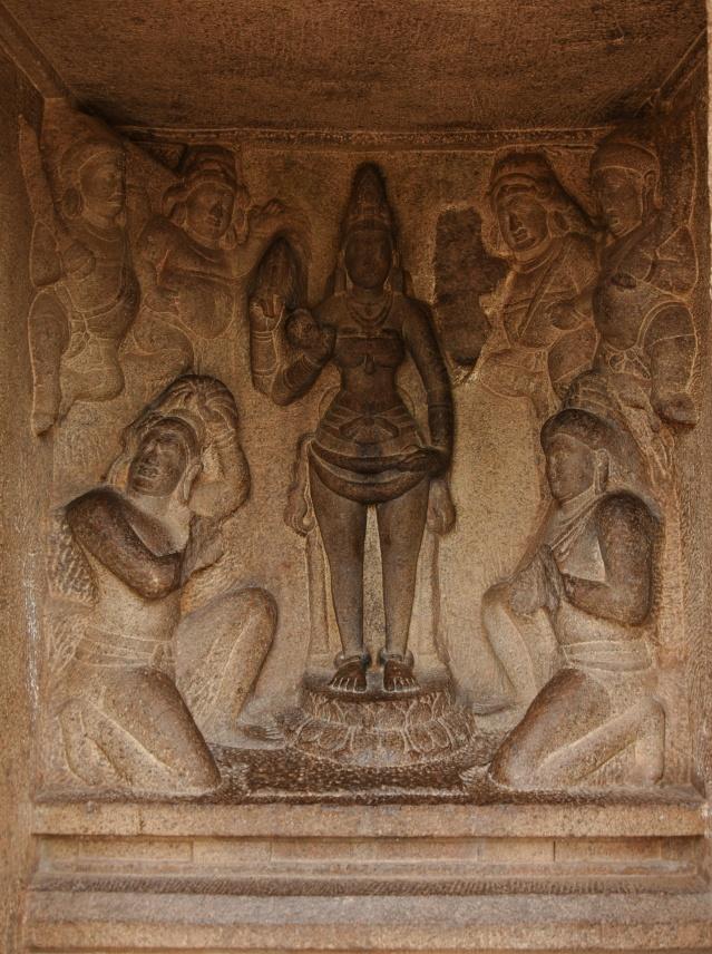 DSC_9280 - Durga relief inside Draupadi ratha.