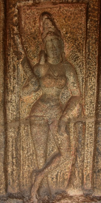 Dvarapalika on the left side of entrance to the shrine - Kotikal cave.