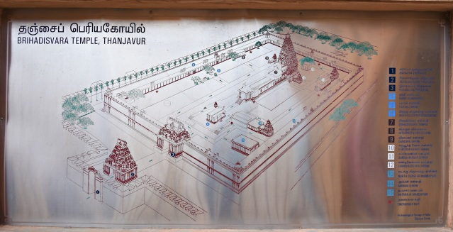 DSC_0144 - Floor plan of Thanjavur Big temple or Peruvudaiyar kovil.