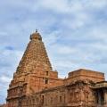 DSC_0237 – 13 storied Sri Vimana,Ardhamandapa,Mahamandapa and Mukhamandapa – Brihadeeswara, Thanjavur(SE corner).