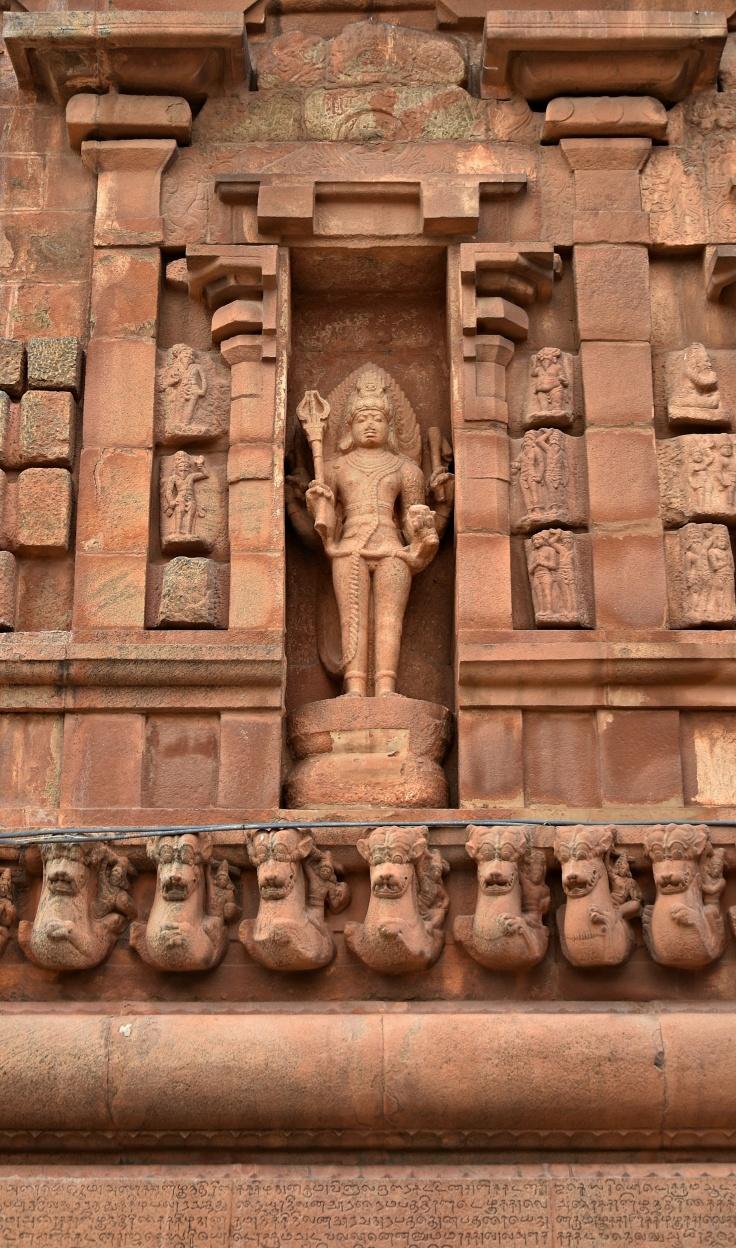 DSC_0372 - Bhairava display near Mahishasuramardhini on the North wall near Anukkan Tiruvayil.