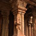 DSC_0391 – Beautifully carved Kinnara (half man,half horse) figure in the Mukhamandapa of Subrahmanya shrine (NW), Thanjavur