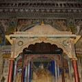 DSC_0422 – King's mandapa of Maratta Durbar hall and a painting inside showing Maharaja Serfoji I.