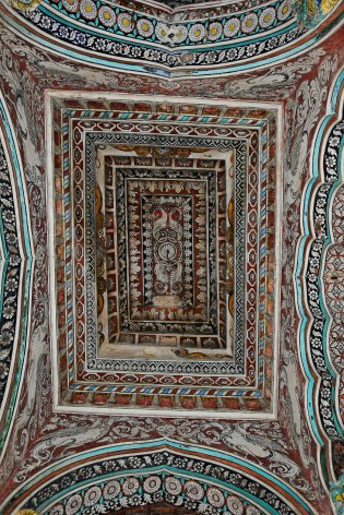 DSC_0426 - Traditional Thanjavur style of painting on wood - Ceiling works of Durbar hall of Thanjavur Maratta Palace.