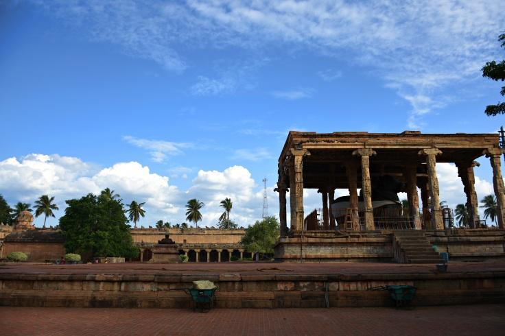 DSC_0457 - Beautiful evening sky from Thanjavur Brihadeeswara temple complex - North side.
