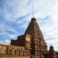 DSC_0473 – Quadrangle Sri Vimana of 216ft,13 tiers above 3 tiered square sanctum – Evening view from NE corner.