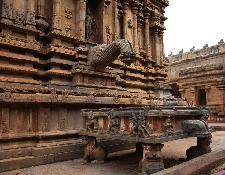 DSC_0527 - Architectural design of the Komugham or Pranala of E facing Subrahmanya shrine - N side.